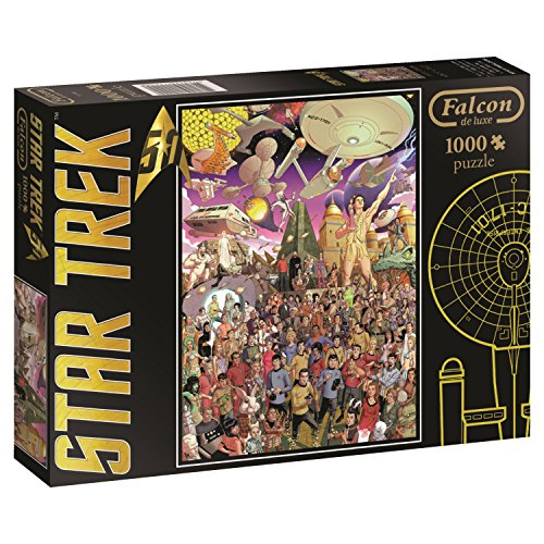 Jumbo Star Trek 50th Anniversary Jigsaw Puzzle (1000 Piece) (Puzzle Trek Star Jigsaw)