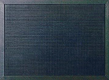 ID Mat M51/_L Picots Light Tapis Paillasson Caoutchouc Noir 80 x 60 x 1,6 cm