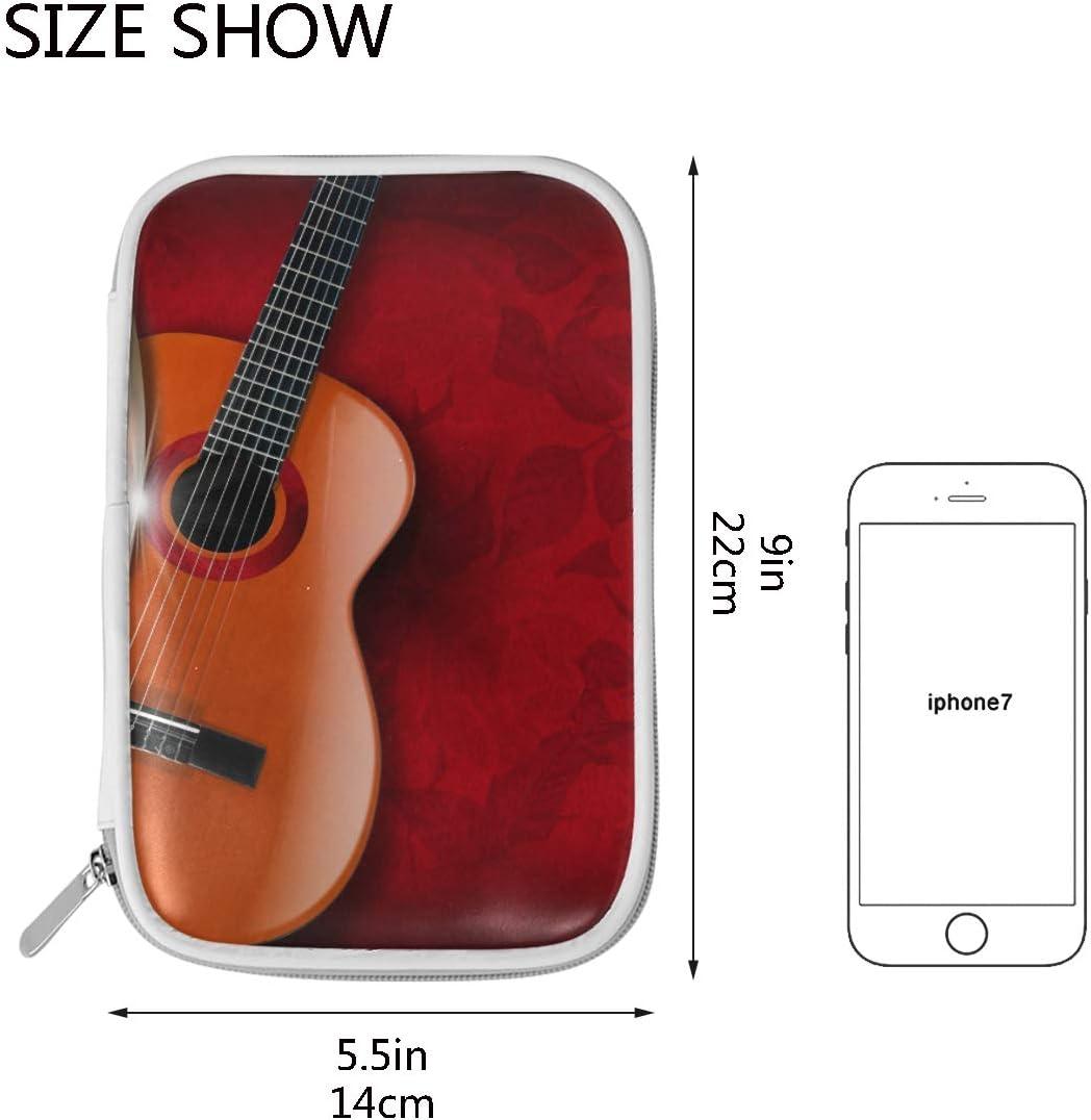 CPYang - Estuche para lápices y guitarra, diseño de hojas de piano ...