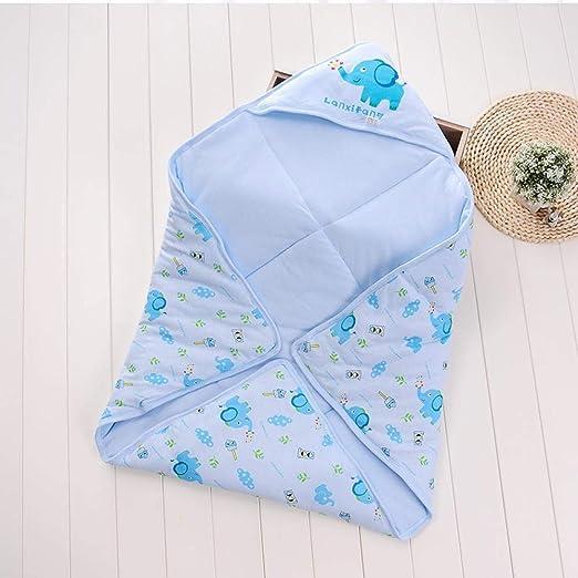 Bebé Manta Saco De Dormir Recién Nacido Edredón para Bebé Patrón De Dibujos Animados para Bebés Sleep Comfort Pink_85 * 85,Blue- 85 * 85: Amazon.es: Hogar