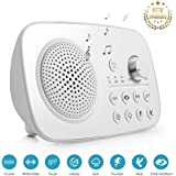 White Noise Machine, 2018 Upgraded Sleep Relax Sound Machine with 8 Soothing Nature Sounds and Sleep Timer