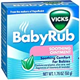 Vicks BabyRub Soothing Chest, Neck and Back Ointment 1.76 Ounce
