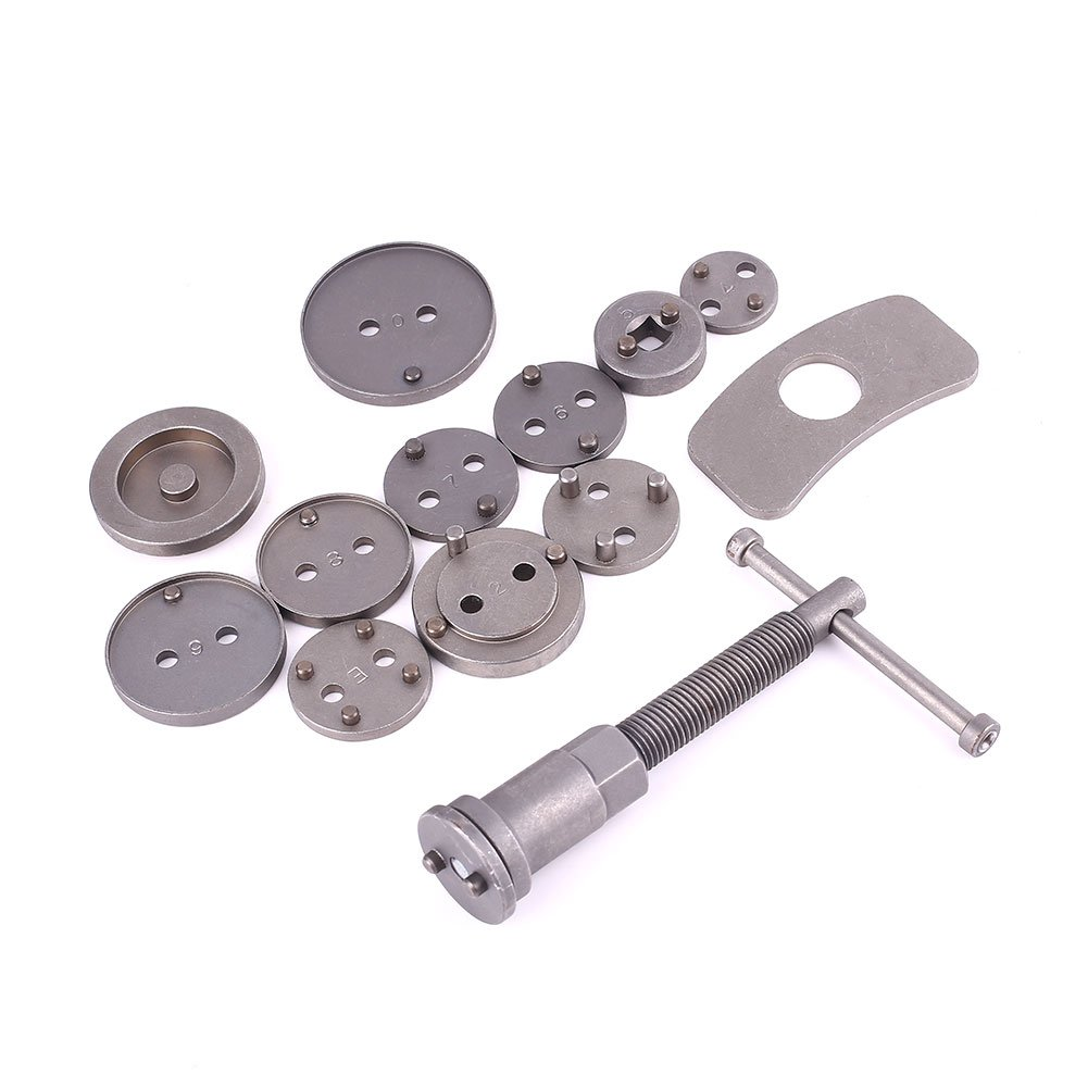 Tiptiper Brake Caliper Wind Back Tool, 13Pcs Steel Brake Pad Dismantling Tool Caliper Piston Disassembling Kit For Auto by Tiptiper (Image #1)
