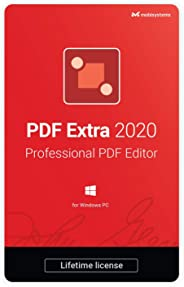 PDF Extra 2020 - Professional PDF Editor – Create, Edit, Protect, Annotate, Fill and Sign PDFs - 1 PC/ 1 User / Lifetime Sub