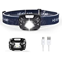TEQIN Super Bright LED Headlamp Water Resistance Rechargeable Headlight Lamp for Biking Camping and Other Outdoor…