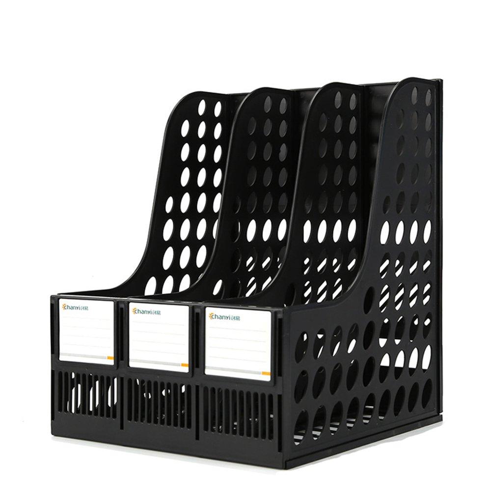 Lagerregal Student Book Stand-Datei, Desktop-Ordner Aufbewahrungsbox (Farbe     SCHWARZ, größe   24  25.5  31cm) B07MQK7185   Jeder beschriebene Artikel ist verfügbar  28ec3d