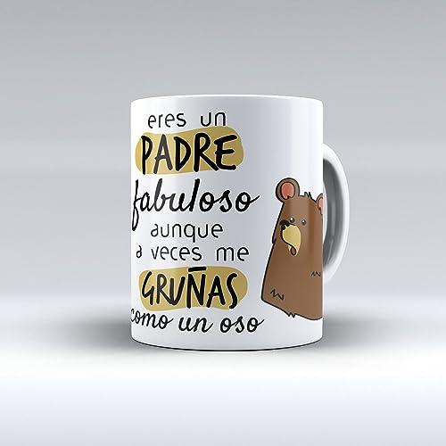 Taza de desayuno Eres un padre fabuloso aunque a veces me gruñas como a un oso