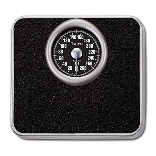 Taylor 48325072 Analog 300lb Bath Scale Steel Platform