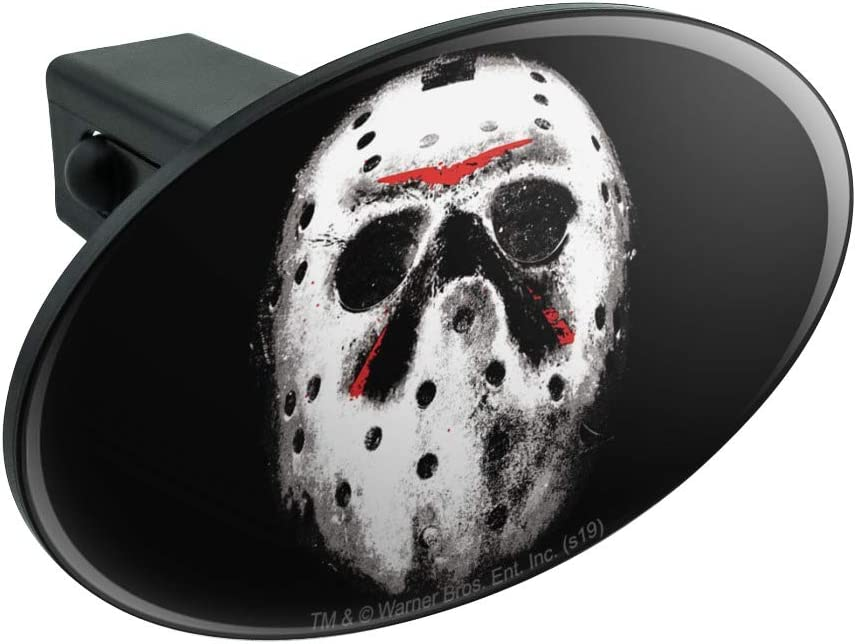 Graphics and More Friday The 13th Jason Mask Oval Tow Trailer Hitch Cover Plug Insert