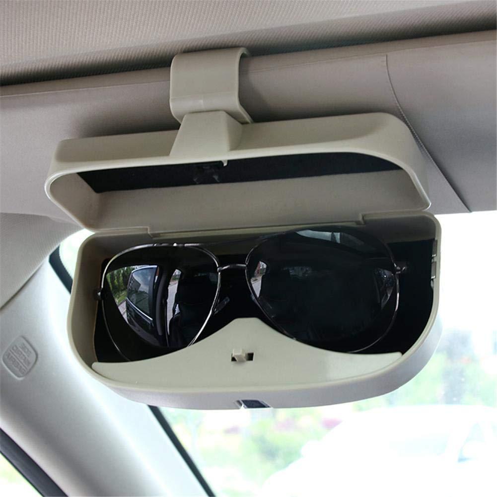 Seasaleshop Auto Brillenhalter Brillenhalterung Brillenbox, Magnetischer Brillenhalter,Brillenablage fü rs Auto Brillen Halter Auto fü r Karte Ausweis Mü nze mit Kartensteckplä tze by