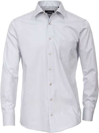 Casamoda Camisa Manga Larga sin Planchar de Color Plata Oversize, 48-70:50: Amazon.es: Ropa y accesorios