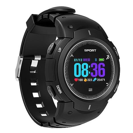 Reloj inteligente con Bluetooth, resistente al agua IP68, pantalla táctil sumergible 50 m con teléfono móvil ...