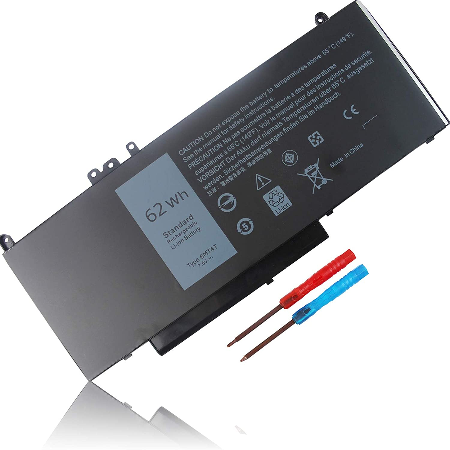 6MT4T Battery 62WH Replacement for Dell Latitude E5470 E5570 14 5470 E5470 15 5570 E5570 15.6 inch Precision 3510 7V69Y TXF9M 79VRK 07V69Y 0HK6DV 079VRK 0TXF9M 451-BBUN 451-BBTW 0C1P4