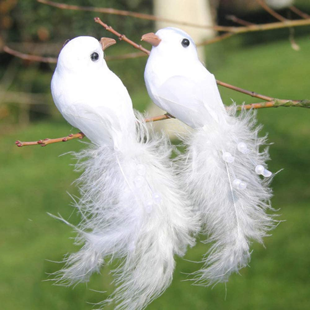 Artificial Feather Foam Bird Christmas Tree Home Decoration Craft Onament