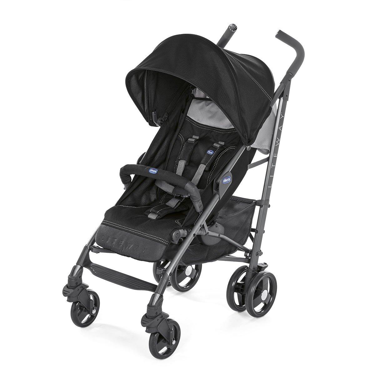 Chicco Liteway 3 - Silla de paseo ligera y compacta, 7,5 kg, color negro 08079596510000