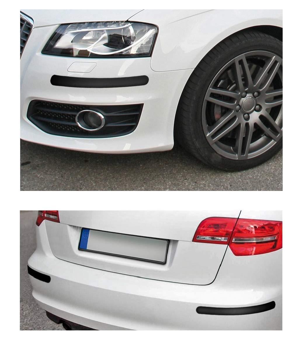 takestop® Set Coppia Protezioni ws1268 per PARAURTI Spoilers Antiurto 52x510mm in Gomma Nero Adesivo Auto SALVAPARAURTI ANTIGRAFFI MOON 10012625