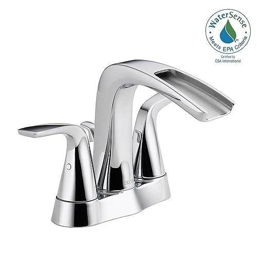Delta Tolva 4 in. Centerset 2-Handle Bathroom Faucet in Chrome