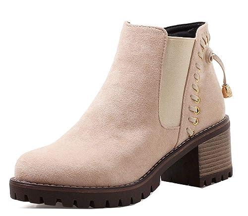 Easemax Femme Rétro Talon Chunky Fermeture Enfiler Outdoor Bottines   Amazon.fr  Chaussures et Sacs 6e7ae5f7c195