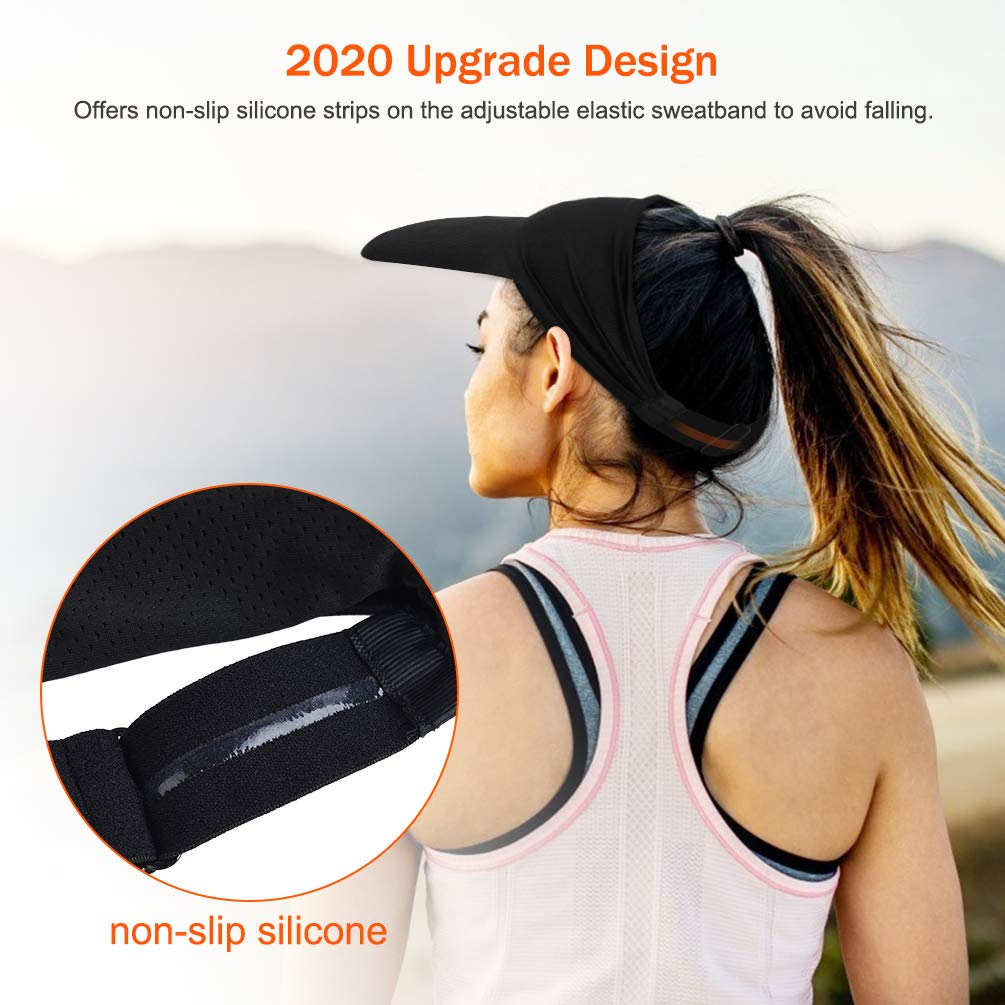Sun Visor Hat Golf Visor Hat Sun Hat Foldable Anti-Slip Adjustable for Men Women