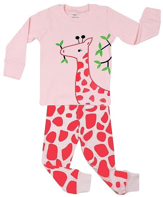 "Elowel Ni?as ""Jirafa"" 2 piezas Conjunto de pijama 100% algod"