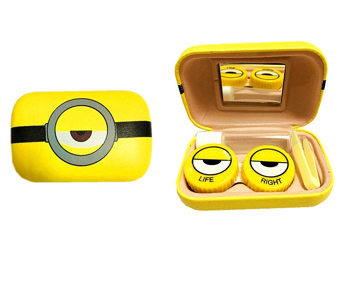 Minions Contact Lens Case | Great For Travel+Mini& Cute& Convinient (random pettern) Generic