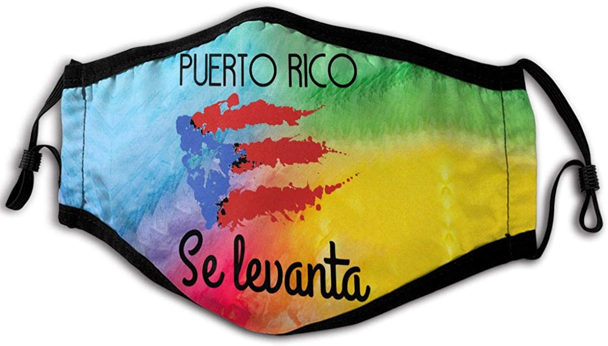 Puerto Rico Se Levanta Outdoor Mask, Anti-Dust Suitable Windproof Adult Men Women Bandana