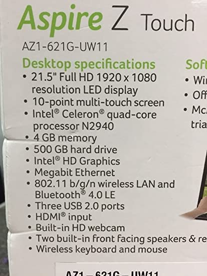 Acer Aspire Z Touch 21 5