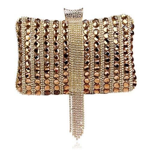 Del Diamante colore Borsa Delle Borse Donne Oro Rosso Crossbody Sera Frizione xwnqa4TI
