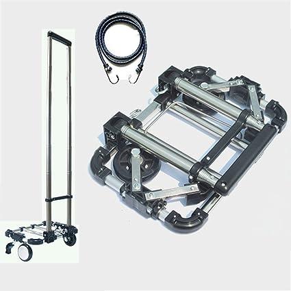 Amazon.com: Carro de equipaje Pei con ruedas plegable para ...