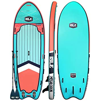 Amazon.com: ISLE Surf & SUP Megalodon - Tabla hinchable de ...
