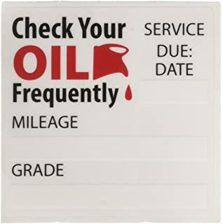 Amazon com : Oil Change/Service Reminder Stickers 100