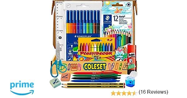 Caja Sorpresa Regalo Original para niños cumpleaños infantil - Pack vuelta al cole y Pack material escolar Papeleria Utiles escolares kawaii Material ...