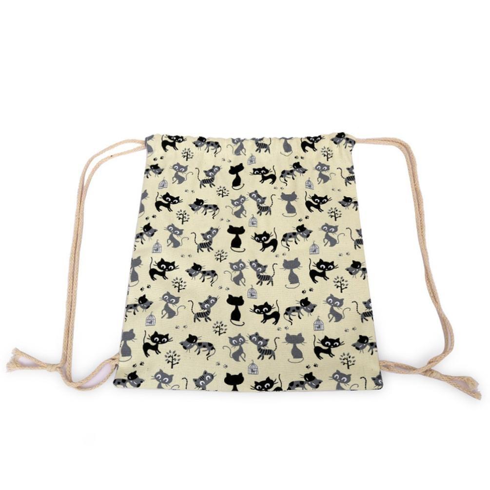 KEERADS la toile sac de voyage qui le cordon extérieur sac sac sac de plage M9KlRDQ