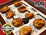 Top Nonstick Silicone Baking Mat with FREE Measurements and Recipe Printed on Full Sheet with Lifetime Guarantee for the Baking Buddy™ Highest Quality Professional Non Stick Surface Liner