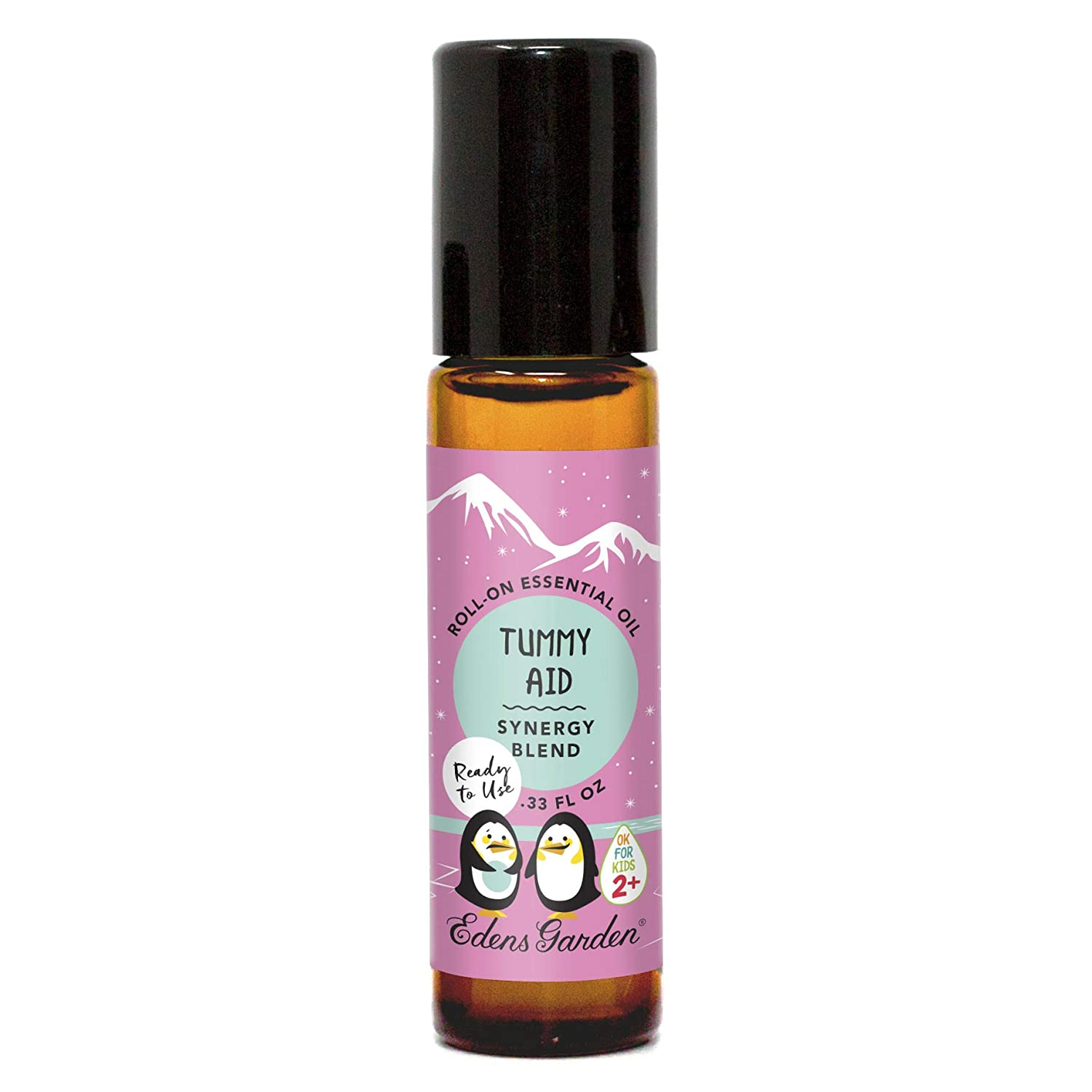 """Edens Garden Tummy Aid""""OK For Kids"""" Essential Oil Synergy Blend, 100% Pure Therapeutic Grade (Child Safe 2+, Pre-Diluted & Ready To Use- Digestion & Pain), 10 ml Roll-On"""