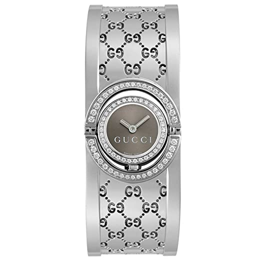 2c1642eedf8 Buy GUCCI Women s YA112504 Twirl 112 Series Diamond Bangle Watch Online at  Low Prices in India - Amazon.in