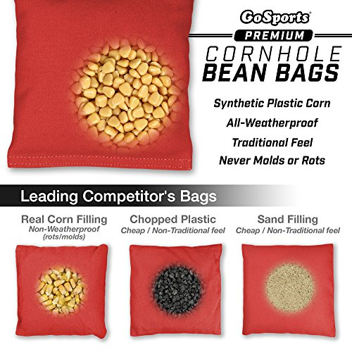 GoSports Cornhole Bean Bag Sets | 16 Colors Available | Duck Cloth with All-Weather Corn Fill