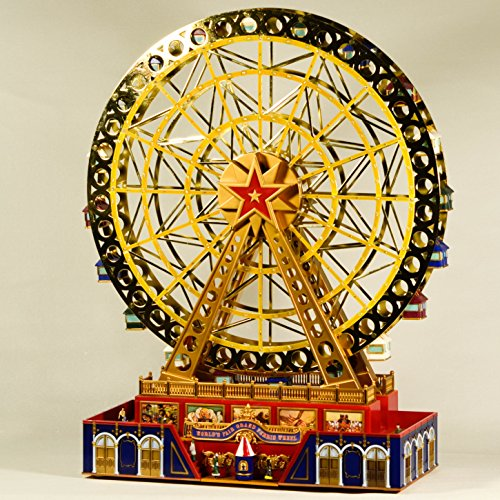 EliteTreasures Mr. Christmas Musical World's Fair Grand Ferris Wheel - Mr Christmas Gold Label Collection Novelty Christmas Decoration - Music Animation Decor Ornament - Mr Christmas Music -