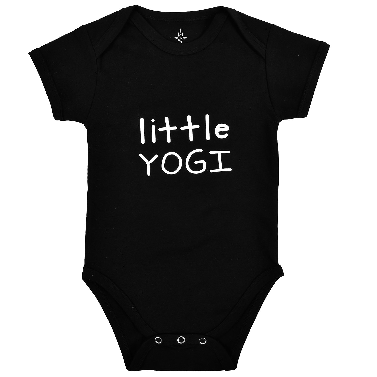 TREELANCE Yoga Onesie Baby. Organic Cotton Black Yoga Baby Clothes. Yoga Onesie for Babies. Organic Baby Shower Yoga Gift. Little Yogi 12 Months.