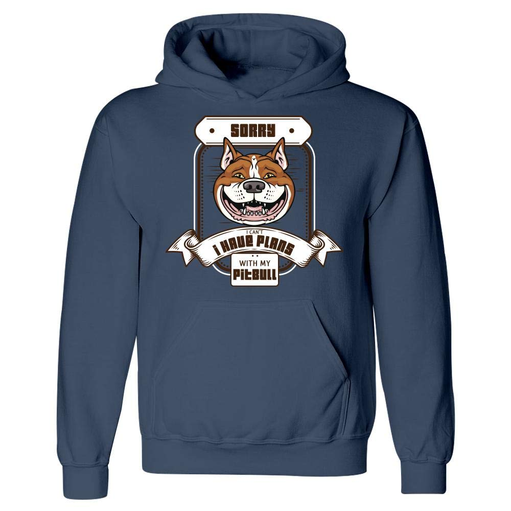 Sorry I Have Plans with My Pitbull Pet Dog Canine Humor Stuch Strength Funny Dog Hoodie