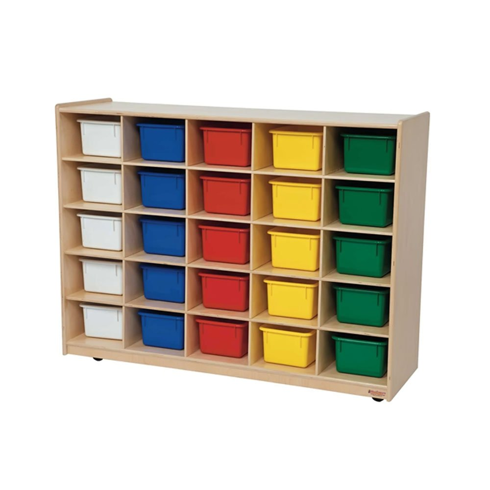 Wood Designs Kids Play Toy Book Plywood Organizer Wd1600325 Tray Storage With Assorted Trays