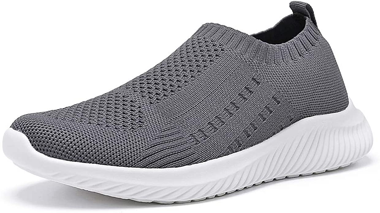 Women/'s Running Shoes Knit Breathable Lightweight Athletic Walking Sneaker Black