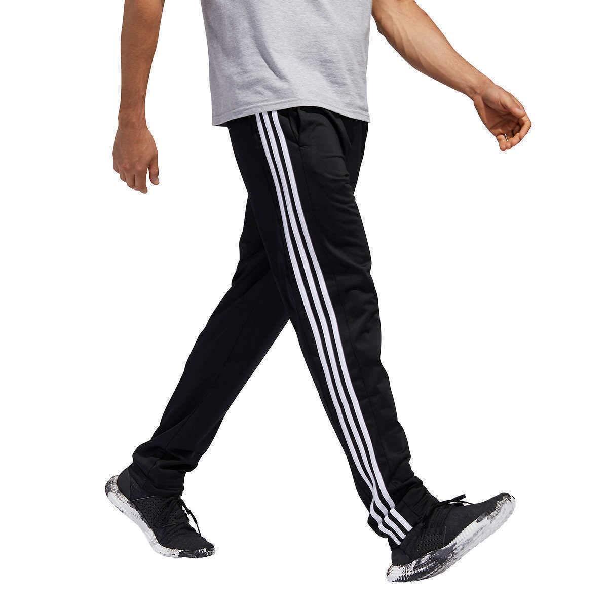 adidas Men Essential Track Pants Black Size M, L, XL (Black/White, Large)