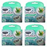 Schick Intuition Naturals Sensitive Care Razor Blade Refill Cartridges, 12 count