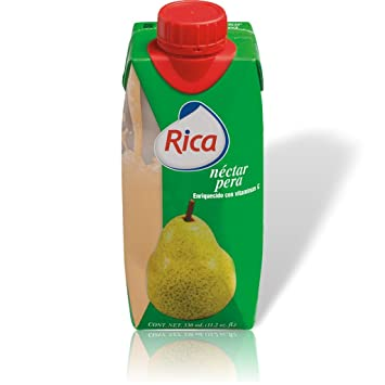 Rica Pear Nectar Pera 330 mL (6 Pack)