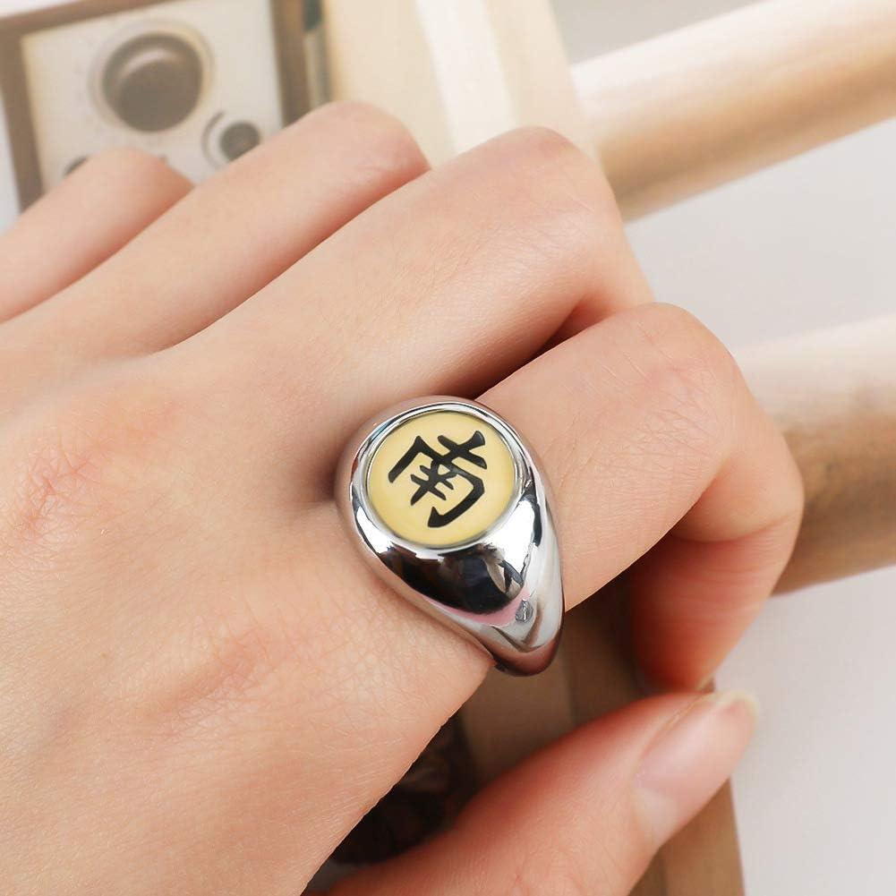 GOTH Perhk Anime Naruto Rings Uchiha Sasuke Itachi Sharingan Akatsuki Cosplay Ring in Box with Chain