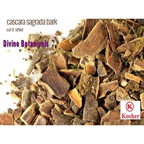 DIVINE BOTANICALS cascara sagrada bark cut & sifted (4 oz) free shipping