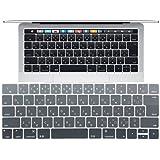 New MacBook Pro キーボード カバー,AutoGo マックブック プロ 13 15 インチ 2016 Touch Bar 搭載モデル 日本語 JIS配列 キースキン JISレイアウト キーボード 防塵カバー 【 クリア 】