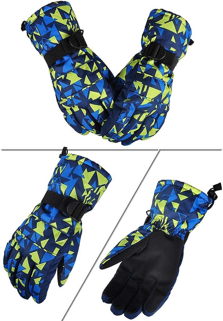 Men Ski Gloves Winter Gloves Warm Waterproof Anti-slip Outdoor Sport Mitten