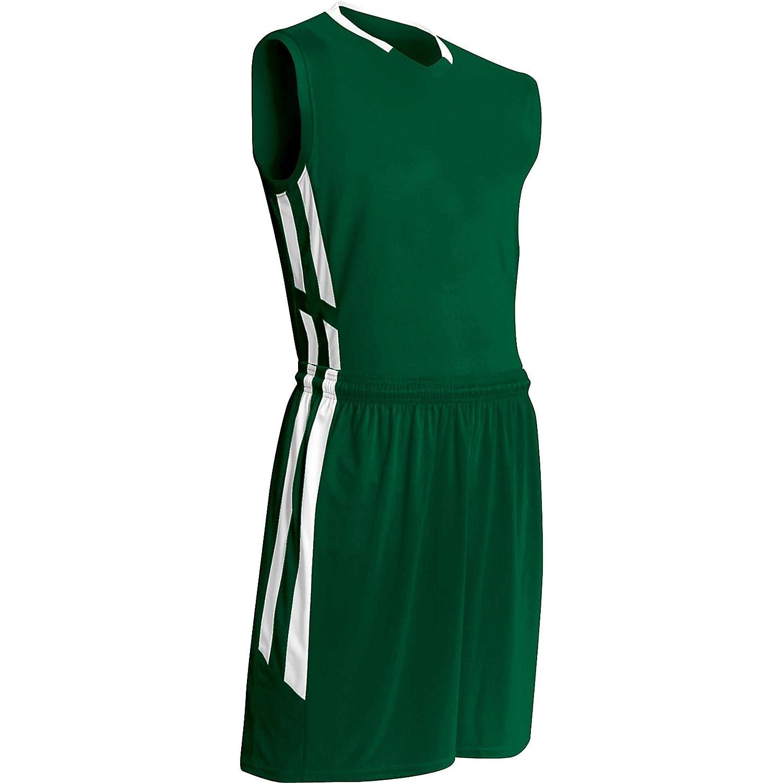 Champro大人用マッスルDriギアバスケットボールジャージー、フォレストgreen|white、XL B00GMIXE02